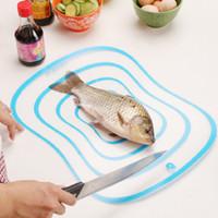 Wholesale 10PCS Colorful Kitchen tool PVC Antibacterial mouldproof Chopping Blocks Transparent chopping board B355