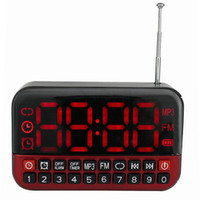 Wholesale Super Digital Screen FM Radio MP3 Player USB Speaker Clock Alarm With Battery Y4172