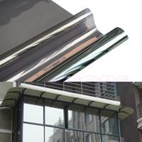 Wholesale 50cm x M Window Film One Way Mirror Solar Reflective Insulation Silver Decorative Stickers home decor L039