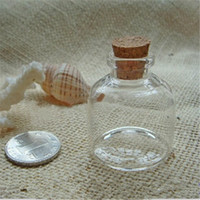 Wholesale 12pcs Factory very cute Glass vials ml Glass Bottles Small Bottles with Corks x40x12 mm