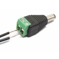 achat en gros de câblage connexion rapide-Connecteur mâle de puissance de courant continu Connecter le connecteur de CC de 2.1 * 5.5mm DIY pour le système de CCTV, expédition libre
