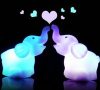 Wholesale New Creative Color Changing Elephant LED Night Light Lamp For Bedroom Home Display Party