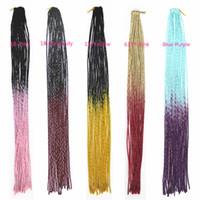 Wholesale Fauxlocs Crochet Twist Braid Hair Extensions quot Kanekalon Ombre Soft Dread Locks Synthetic Braiding Hair Extensions g PC
