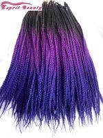 african hair braiding styles - 5packs quot New Black Purple Blue Tone Ombre s Box Braiding Crochet Braids Hair Extensions High Temperature African Box Braiding Style