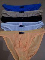 Wholesale Men Sexy Briefs Low Waist Transparent Men Underwear Nylon Sexy Men Briefs QC02W