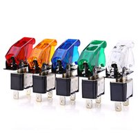 Wholesale Colorful Car V LED Toggle Control Push Switch Button Applicable for Car motorcycle Boat Water Dispenser ect