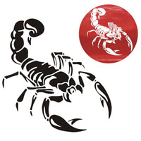 Wholesale New cm Cute D Scorpion Car Stickers car styling vinyl decal sticker for Cars Acessories decoration
