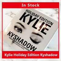 bags christmas - In Stock HOT Holiday Edition Kylie Cosmetic Limited Collection Kyshadow Palette matte lipstick makeup bag creme shadow Christmas gift