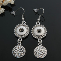 Wholesale 10 pair mm snap button noosa flower earrings fashion jewelry is suitable for the fast button and the charm of floating