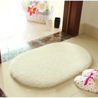 Wholesale Hot sale cm Bathroom Rugs Slip Resistant Mats Coral Fleece Doormat Carpet Floor Water Absorption Mats New Arrival C2