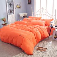 bedspread wholesale - Set Miss Eyelash Embroidery Washed Cotton Bedspread Comforter Duvet Cover Sheet Sets Bedclothes Bed Linen