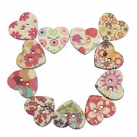 art clothing patterns - Lovely X mm Flora Pattern Mixed Sewing Craft Two Holes Mixed Wooden Heart Shaped Buttons For DIY Clothing Accessories