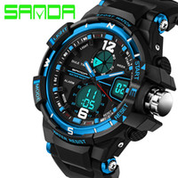 Wholesale 2016 New Brand Man Watch SANDA Fashion Watch Men G Style Waterproof Sports Military Watches Shock Luxury Analog Digital Sports Watches