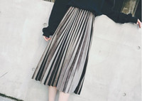 Wholesale matallic color and mid long unmixed skirts with different colors to choose and it is korean style