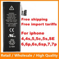 Wholesale 1560mAh Li ion Battery for iPhone s C SE Plus Phone Battery Rechargeable Replacement Li Polymer Internal Batteries