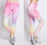 Wholesale New Women s Movement Tight Fitting Yoga Pant High Elastic Soft Printing Sport Pant Yoga Pants Large JAP3786