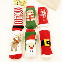 Wholesale 2016 New Christmas Gift Box Featuring Children s Christmas Socks Boy Cotton Christmas Girls Socks Package Mail