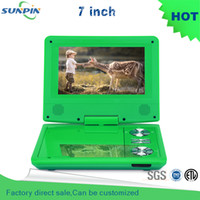 Wholesale Inch green Portable DVD Player and misic and video Support SD MS MMC Card