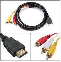 android hdtv box - android tv box Feet P HDTV HDMI Male to RCA Audio Video AV Cable Cord Adapter Converter Connector Component Cable Lead For HDTV NEW