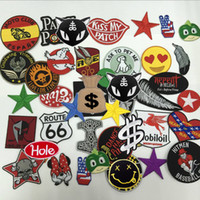 embroidered patches assorted patches - Hot Iron Badge Embroidery Patch Cloth Decoration Label Mix model National Flag Number Assorted Random Shipments