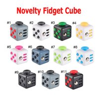 Big Kids Multicolor Plastic New Novelty Fidget Cube Stress Relief Toys 14 colors for kids and adults Decompression stress ball wisdom Children Christmas Gift 2107168