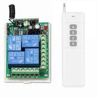 0-3000M CC 12V 24V 4 CH 4CH RF Sistema de control remoto inalámbrico, Transmisor + Receptor, 315 / 433MHZ