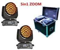 Wholesale 2XLOT W RGBWA IN1 Zoom Led Moving Head Light Beam Angle Adjustable by Flight case Road case Rack case