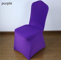 Wholesale Universal Purple Stretch Polyester Wedding Party Spandex Chair Covers for Weddings Banquet Hotel Decoration Decor