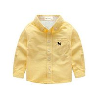 Wholesale Children s clothing long sleeved shirt children plus cashmere thickening warm shirt