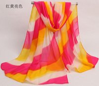Wholesale The Explosion Of New Hot Printing Chiffon Scarves All match Korean Super Beach Towel Scarf Winter Sun