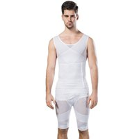Wholesale Mens Waist Belly Corsets Girdle Shapewear pants Body Slimming Tummy Slimming Leg Underwear Suits Shaper