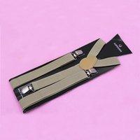 Wholesale 100pcs CCA3161 High Quality Candy Color Unisex Adjustable Pants Y back Suspender Brace Elastic Clip on Belt Adjustable Braces Suspenders