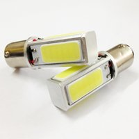 Wholesale High Power COB Car Tail Light Headlamp Tail Bulb LED BA15S S25 P21W Lamp Pure White DC12V