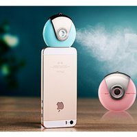 Wholesale New Mini phone Humidifier Aromatherapy essential oil diffuser and Mist Maker Fogger Beauty replenishment for Andrews and IOS