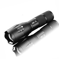 Wholesale High Powered A100 Portable LED Tactical Flashlight Rechargeable Water Resistant Handheld Flashlight with Adjustable Focus and Light Mode