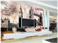 big house fabrics - Custom d wallpaper d wall murals wallpaper Retro European architectural background wall Tower Bridge of London Big Ben wallpaper decor