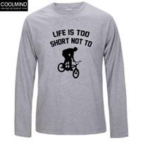 animal bmx - 100 cotton Top quality cotton long sleeve tees casual mens tshirt o neck BMX print men s t shirt