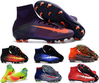 Wholesale Mens Kids Magista Obra Soccer Boots CR7 Mercurial x EA SPORTS Superflys FG AG Boys Youth ACE Purecontrol Football Shoes