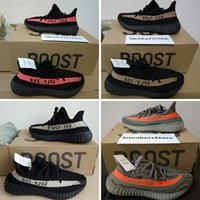 Wholesale with original box Boost Sply V2 Olive Green Black Copper Red Orange Beluga kanye west sneakers for men women running shoes