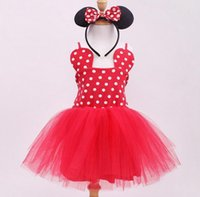 animal ear buds - minnie mouse party clothes baby girl cotton red polka dot dress ears hair bands boutique outfits girls tutu dress children ruffle dress