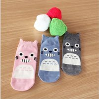 animations knitting - 3colors hot selling New Summer style South Korean women s Fashion Cotton short tube Socks meias soks cartoon fairy tale Animation Totoro sox