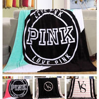 Wholesale Blanket Pink Coral FLeece Blanket Portable Throws on Sofa Air Condition Blankets Catwalk Dimensional Beadding LC449