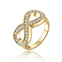 Wholesale 2017 new Korean fashion charm figure geometric K gold ring jewelry women s birthday gift