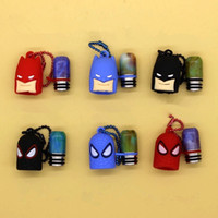 Wholesale 510 Thread Resin Drip Tips with Batman Spiderman Dustproof Plastic Silicone Cap Drip Tip for E Cigs Atomizers Rda Rba Vape Mouthpieces