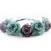 Wholesale Women s Bohemian Floral Headbands For Bridal Wedding Jewelry Accessories Boho Beach Hair Bands Ornaments Colors