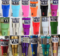 Wholesale Hot cup Powder Coated oz Rambler YETI Coolers Rambler Tumbler Stainless Steel Double Walled Travel Mug cup