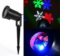Wholesale Outdoor Snowflake LED Stage Light Garden Moving Snow Laser Projector for Christmas Tree Party Wedding Decoration Landscape Lamp