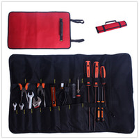 Wholesale Hardware Kit Tool Roll Bag Plier Screwdriver Spanner Carry Case Durable Bag Red