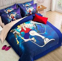 aqua color bedding - 4 Pieces Set Comforter Bedding Sets D Reactive Printing blue Luffy Beds Bed Sheet Set Duvet Cover Beddings set