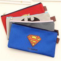 america supplies - Children Pencil bags Superman Batman Captain America Transformers Zipper Pencils Box Stationery Bag Storage Pencil Cases School Supplies